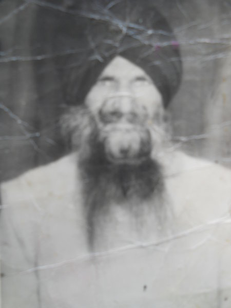 Photo of Jaswant Singh, victim of extrajudicial execution on July 04, 1992, in Patti, Valtoha, by Punjab Police