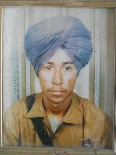 Photo of Nirmal Singh, victim of extrajudicial execution on March 28, 1989, in Tarn Taran, by Punjab Police