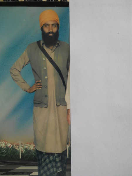 Photo of Sukhwant Singh, victim of extrajudicial execution on December 4, 1992, in Mansa, by Punjab Police