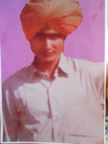Photo of Makhan Singh, victim of extrajudicial execution between September 25, 1992 and September 26,  1992, in Tarn Taran, by Punjab Police