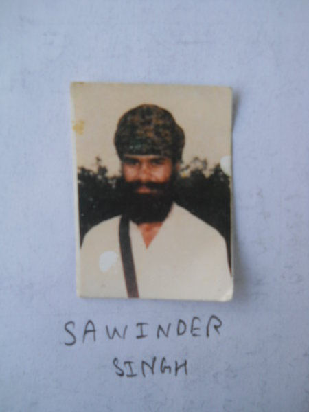 Photo of Sawinder Singh, victim of extrajudicial execution on November 15, 1990, in Khemkaran, Khalra, by Punjab Police