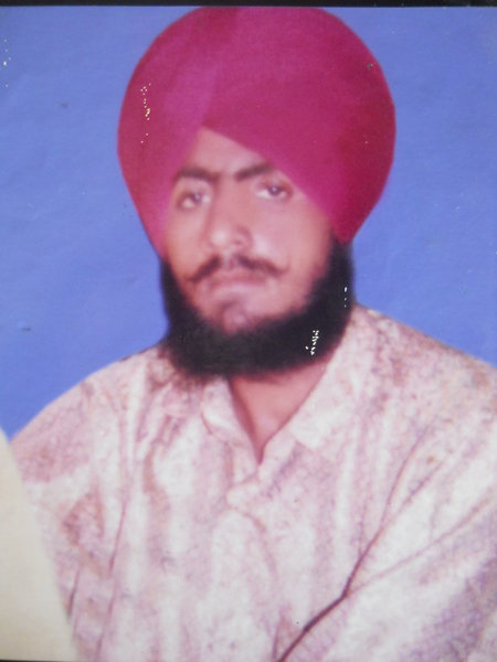 Photo of Sukhdev Singh, victim of extrajudicial execution on August 05, 1993, in Jhabal Kalan, by Punjab Police