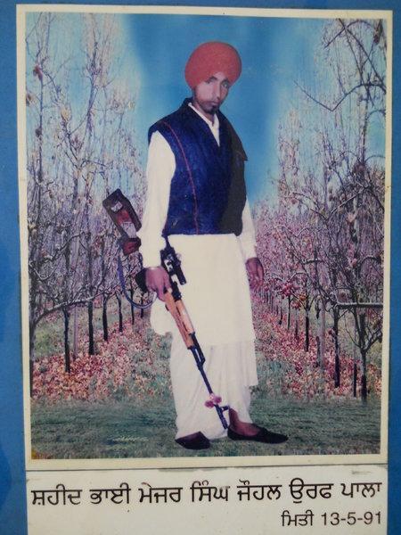 Photo of Major Singh, victim of extrajudicial execution on May 14, 1991, in Baba Bakala, by Punjab Police