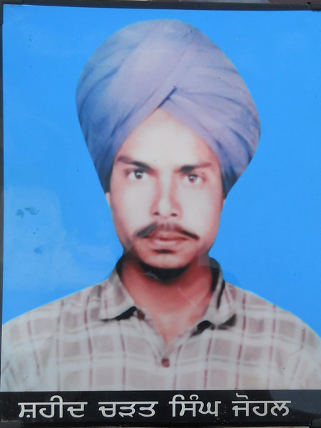Photo of Charat Singh, victim of extrajudicial execution, date unknown, in Tarn Taran,  by Punjab Police; Central Reserve Police Force; Criminal Investigation Agency, in Tarn Taran, by Punjab Police; Criminal Investigation Agency