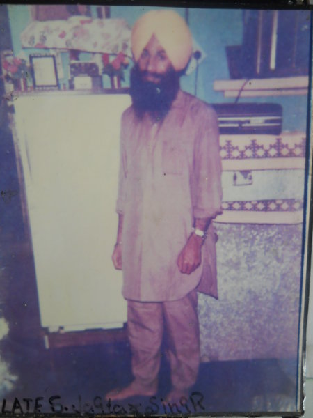 Photo of Jagtar Singh, victim of extrajudicial execution on April 01, 1993, in Chogawan, by Punjab Police