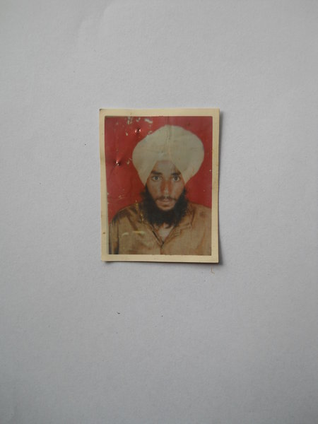 Photo of Lakhwinder Singh, victim of extrajudicial execution on March 26, 1993, in Batala, by Punjab Police