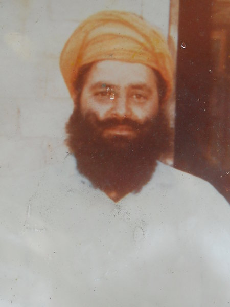 Photo of Rashpal Singh, victim of extrajudicial execution on May 23, 1988, in Lopoke, Majitha, Bhakna Kalan CRPF Camp,  by Punjab Police; Central Reserve Police Force, in Lopoke, by Punjab Police