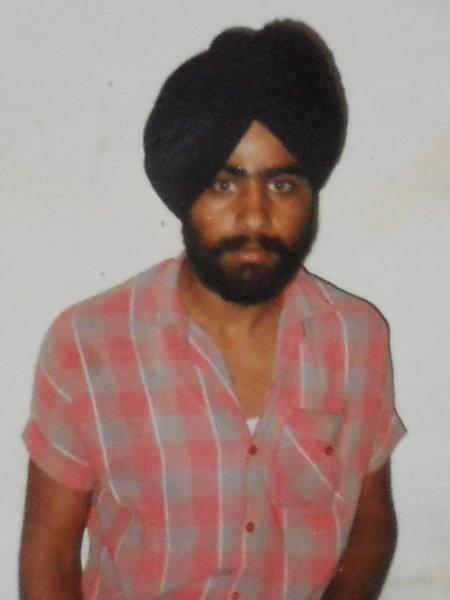 Photo of Gurmeet Singh, victim of extrajudicial execution between September 11, 1991 and September 12,  1991, in Khadur Sahib, Verowal, by Punjab Police
