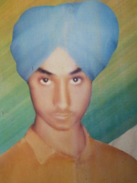 Photo of Surjit Singh, victim of extrajudicial execution between September 11, 1991 and September 12,  1991, in Khadur Sahib, Verowal, by Punjab Police