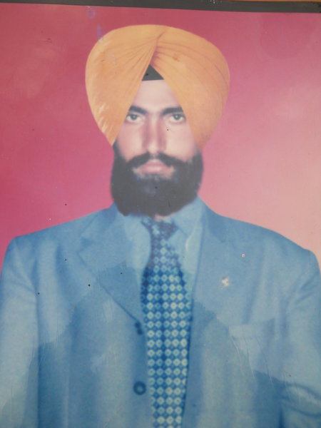 Photo of Nirvair Singh, victim of extrajudicial execution on April 13, 1990, in Tarn Taran, by Punjab Police