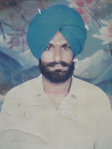 Photo of Balwinder Singh, victim of extrajudicial execution between October 20, 1992 and October 24,  1992, in Jhabal Kalan, Tarn Taran, by Punjab Police