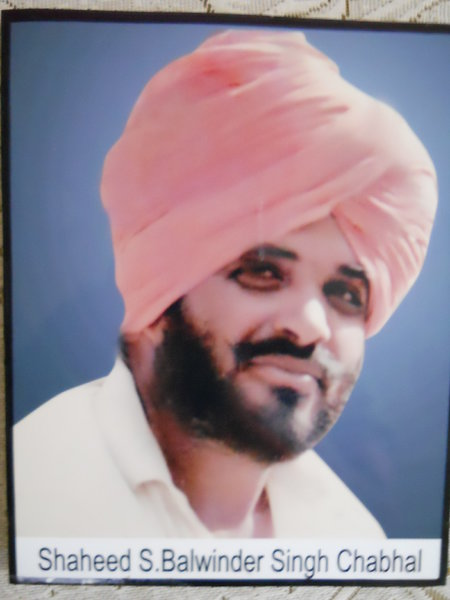 Photo of Balwinder Singh, victim of extrajudicial execution on March 09, 1993, in Tarn Taran CIA Staff, by Criminal Investigation Agency