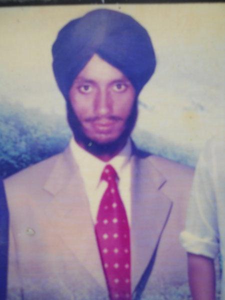 Photo of Kashmir Singh, victim of extrajudicial execution between June 1, 1992 and June 15,  1992, in Jhabal Kalan, by Punjab Police
