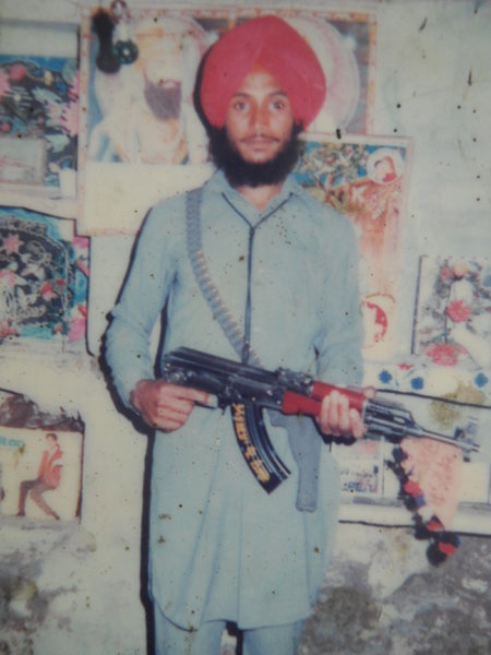 Photo of Gurmukh Singh, victim of extrajudicial execution on July 21, 1989, in Ajnala, by Punjab Police