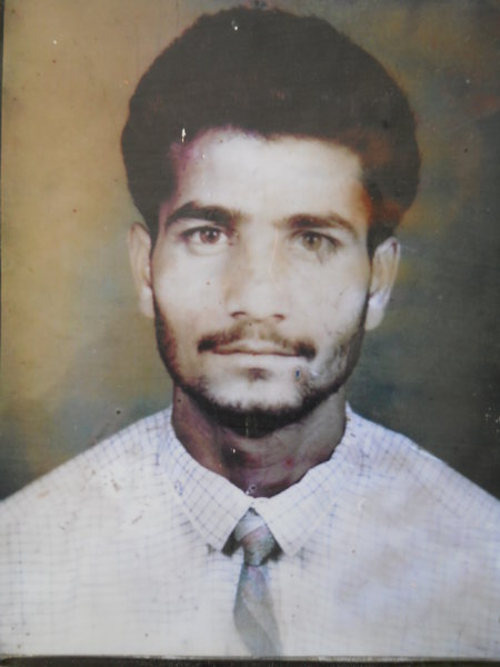 Photo of Sukhdev Singh, victim of extrajudicial execution between July 24, 1992 and July 31,  1992, in Amritsar, by Punjab Police