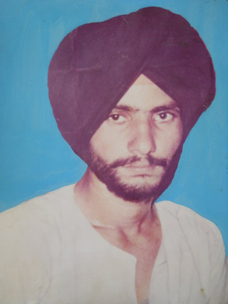 Photo of Sukhwinder Singh, victim of extrajudicial execution between April 13, 1992 and May 15,  1992, in Amritsar, by Punjab Police