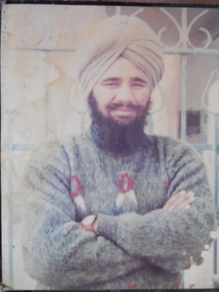 Photo of Avtar Singh, victim of extrajudicial execution on April 21, 1991, in Batala, by Punjab Police