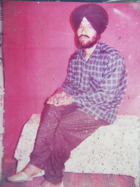 Photo of Gurmej Singh, victim of extrajudicial execution between April 13, 1993 and May 15,  1993, in Jalandhar, by Punjab Police