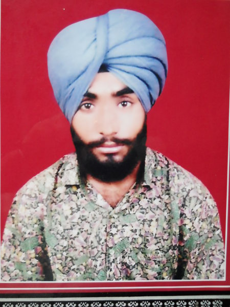 Photo of Kulwinder Singh, victim of extrajudicial execution on November 15, 1991 by Punjab Police; Central Reserve Police Force, in Baba Bakala, by Punjab Police