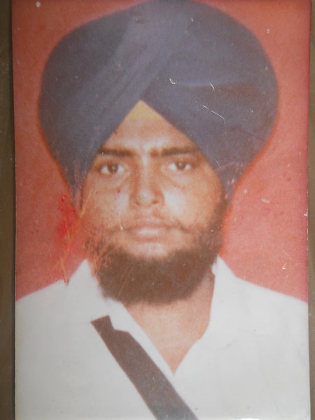 Photo of Sarbjit Singh, victim of extrajudicial execution on July 02, 1989, in Verowal, by Punjab Police