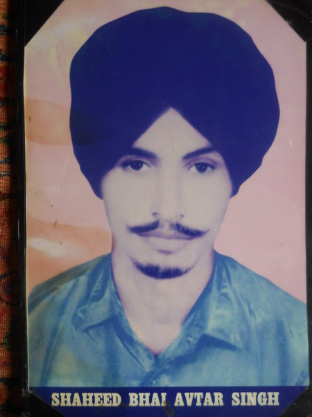 Photo of Avtar Singh, victim of extrajudicial execution on August 18, 1989, in Kapurthala, by Punjab Police