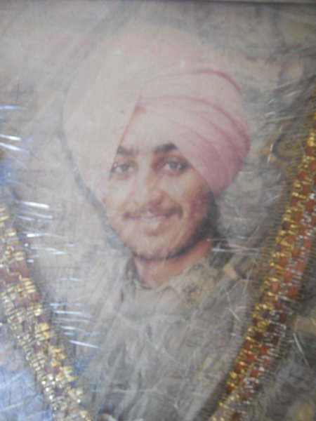 Photo of Partap Singh, victim of extrajudicial execution on August 7, 1992, in Patti, by Punjab Police