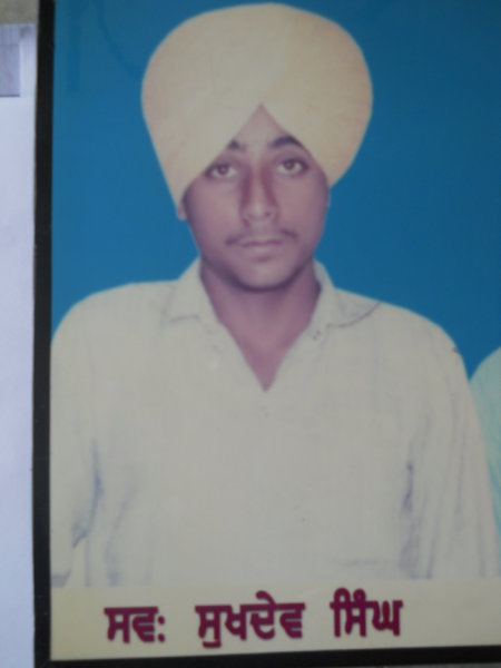 Photo of Sukhdev Singh, victim of extrajudicial execution on June 1, 1992, in Kot Budha, by Punjab Police; Central Reserve Police Force