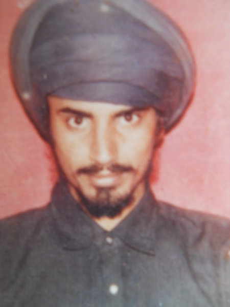 Photo of Parmjit Singh, victim of extrajudicial execution on January 23, 1990, in Valtoha,  by Punjab Police; Central Reserve Police Force, in Valtoha, by Punjab Police