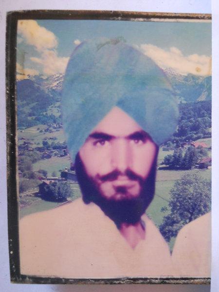 Photo of Harpal Singh, victim of extrajudicial execution on November 6, 1989, in Patti, Khalra, Tarn Taran, Valtoha,  by Punjab Police; Central Reserve Police Force, in Patti, by Punjab Police