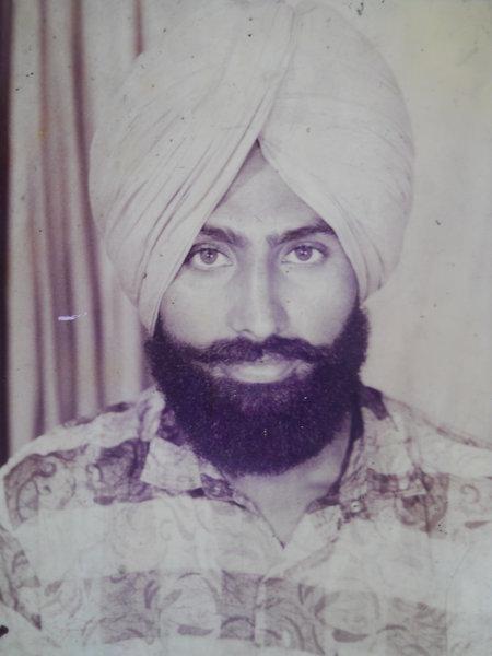 Photo of Sukhdev Singh, victim of extrajudicial execution on January 04, 1993, in Patiala, by Punjab Police