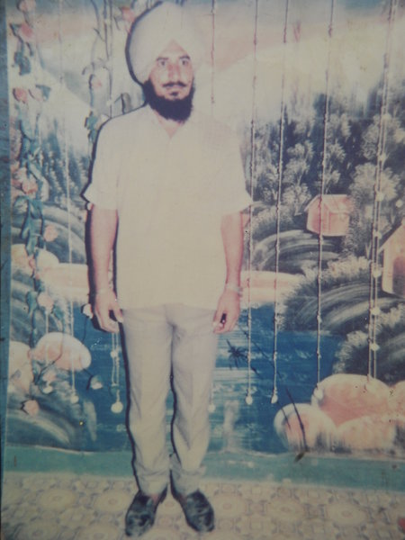 Photo of Kashmir Singh, victim of extrajudicial execution between October 1, 1990 and December 1,  1990, in Harse Chhina, by Punjab Police