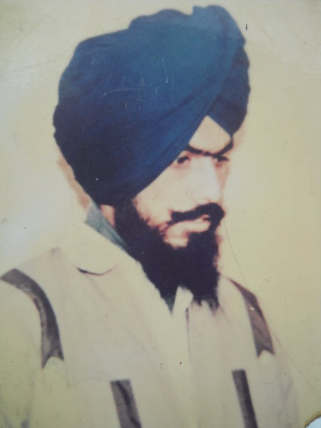 Photo of Resham Singh, victim of extrajudicial execution on April 26, 1992, in Raja Sansi, by Punjab Police