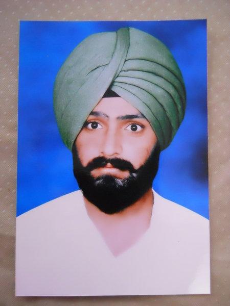 Photo of Jarnail Singh, victim of extrajudicial execution between November 1, 1990 and November 30,  1990, in Kheri Naudh Singh, by Punjab Police