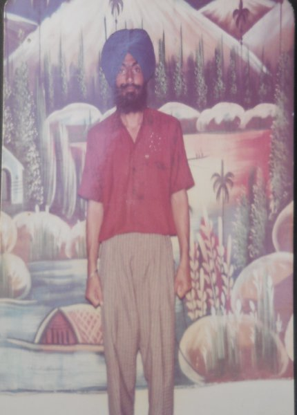 Photo of Gurwinder Singh, victim of extrajudicial execution on January 18, 1992, in Chandigarh, by Punjab Police