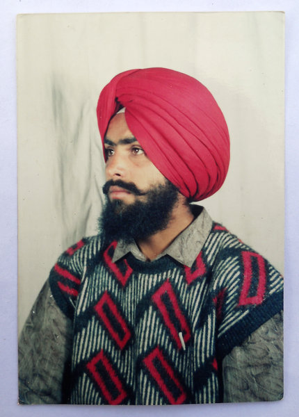 Photo of Sarbjeet Singh, victim of extrajudicial execution on August 19, 1992, in Rupnagar CIA Staff, by Punjab Police