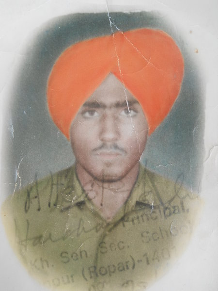 Photo of Umrao Singh, victim of extrajudicial execution on January 06, 1991, in Morinda, by Punjab Police