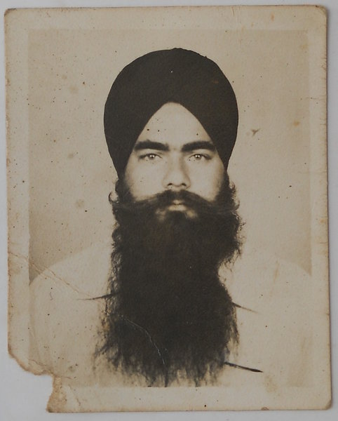Photo of Jagat Singh, victim of extrajudicial execution on April 20, 1991, in Bassi Pathana, by Punjab Police
