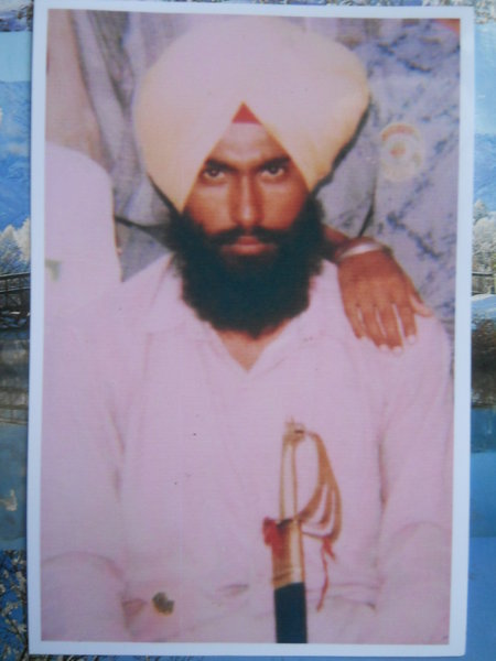 Photo of Dalwinder Singh, victim of extrajudicial execution on August 15, 1991, in Kartarpur, by Punjab Police