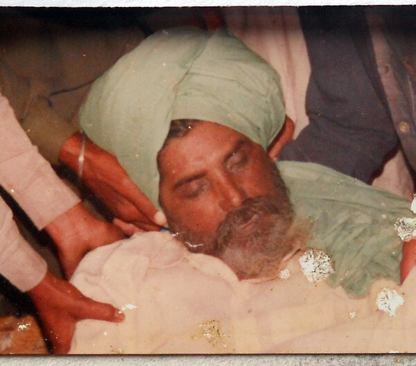 Photo of Ajmehar Singh, victim of extrajudicial execution on February 05, 1992, in Khanna, by Punjab Police