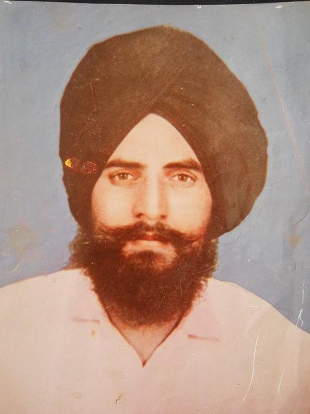 Photo of Balwinder Singh, victim of extrajudicial execution on April 5, 1992, in Moga, by Punjab Police; Criminal Investigation Agency