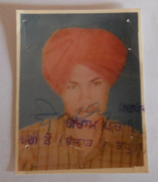 Photo of Harpal Singh, victim of extrajudicial execution between July 1, 1989 and August 31,  1989, in Muktsar, by Punjab Police