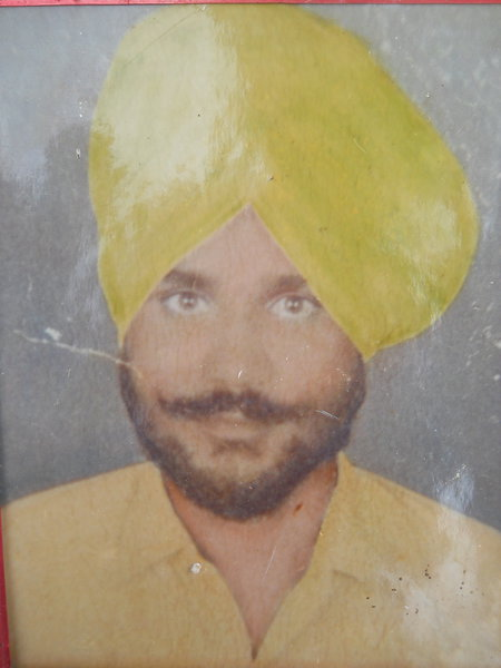 Photo of Karam Singh, victim of extrajudicial execution on November 13, 1988 by Punjab Police; Central Reserve Police Force