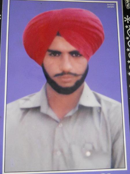 Photo of Jagseer Singh, victim of extrajudicial execution on September 08, 1989, in Guru Har Sahai, by Punjab Police; Black cat