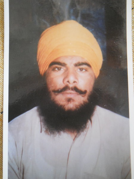 Photo of Jaswinder Singh, victim of extrajudicial execution on September 07, 1990, in Batala, by Black cat