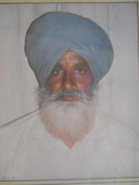 Photo of Diljit Singh, victim of extrajudicial execution on June 17, 1992, in Jaitu, by Punjab Police