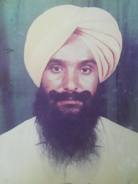 Photo of Sher Singh, victim of extrajudicial execution on February 13, 1991, in Jaitu, by Punjab Police