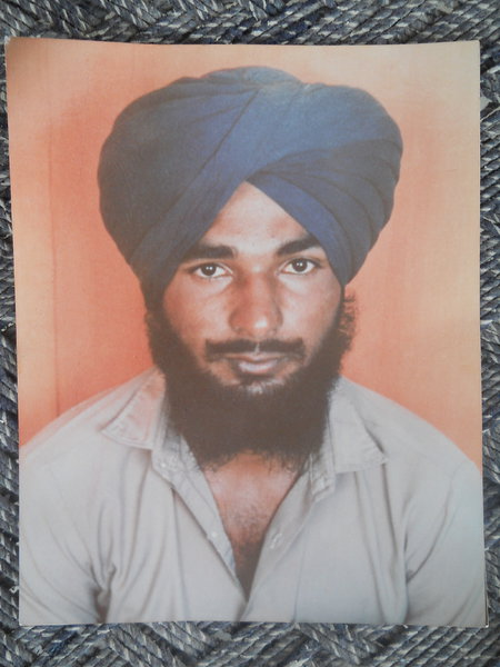 Photo of Sukhwinder Singh, victim of extrajudicial execution on June 30, 1991, in Jagraon, by Punjab Police