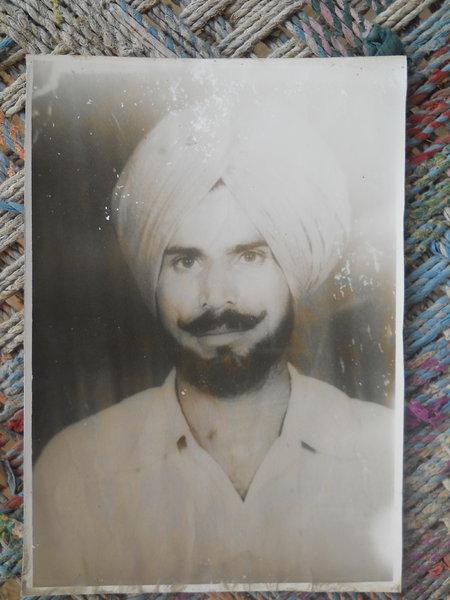 Photo of Sukhdev Singh, victim of extrajudicial execution between November 1, 1993 and November 15,  1993, in Muktsar, by Punjab Police