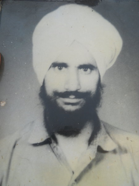 Photo of Harpal Singh, victim of extrajudicial execution on March 22, 1992, in Fazilka, by Punjab Police