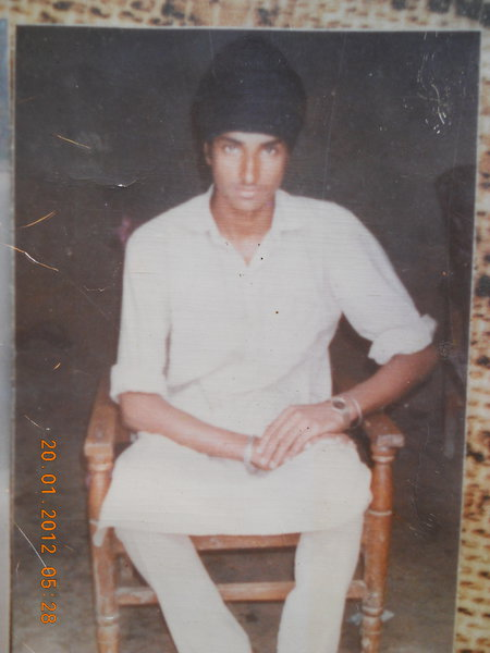 Photo of Nishan Singh, victim of extrajudicial execution on January 26, 1990, in Kulwant BSF Post, by Border Security Force